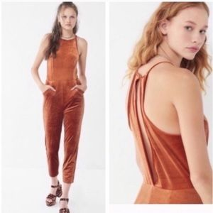 Urban Outfitters Naomi Velvet Jumpsuit Size XL